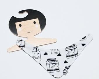 Milk Dribble bib, baby bandana, bib, slabbetje, kwijl sjaaltje