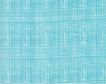 Turquoise Grid Lines from Moda Fabric's Hello World Collection by Abi Hall