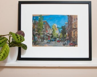 "Original Artwork // Hamilton & Hastings (Vancouver no. 54) // 13"" x 9"" // Acrylic Painting on Paper"