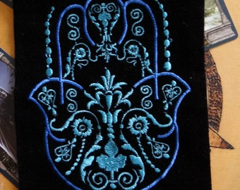 Fatima Hand Velveteen Bag Wiccan Pagan Supplies for Gris Gris Mojo Bags etc.