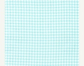 SHOP CLOSING SALE Fabric for quilt or craft Michael Miller Tiny Houndstooth in Aqua Half yard