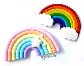 Kawaii Rainbow - Necklace, Keyring, Brooch, Magnet