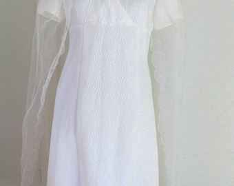 Vintage wedding dress from the 60s