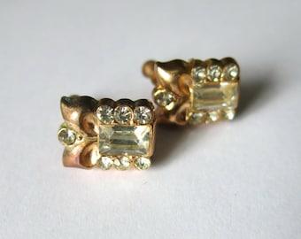 Elegant vintage art deco earrings