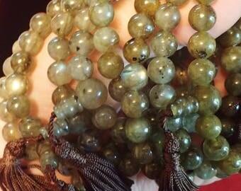 Labradorite beaded bracelet on stretchy string 8mm beads