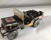 Scale Model Jeep,Army Green, Classicwrecks, Rusted Wreck
