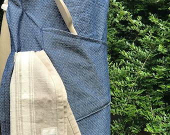 Denim full apron adjustable straps 3 pockets cotton sustainable Baking Chef