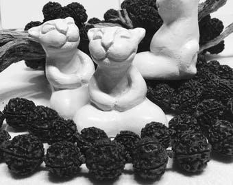 Buddha CAT Sculpture Zen Kitty Feline Goddess Art Witch Altar Pagan Yoga Meditation Car Dash Lotus Wedding White Custom Holiday Party Gift