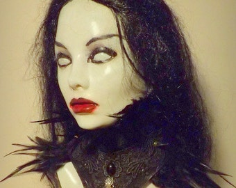 Womens Raven Witch Vampire Collar