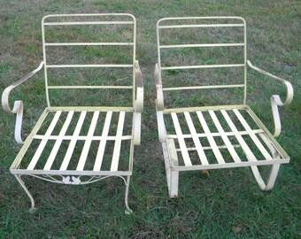 Retro Aluminum Patio Furniture 1960s lawn chair | etsy