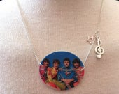 Silver Plated Handmade The Beatles Sgt Pepper Necklace