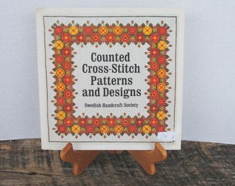 Vintage Counted Cross Stitch Patterns and Designs Swedish Handcraft Society Book