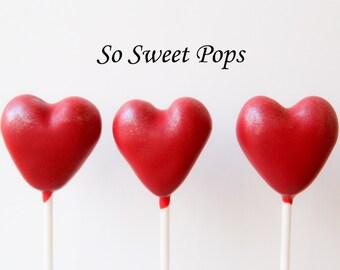 So Sweet Pops Happily Made Red Heart Valentine Inspired Cake Pops