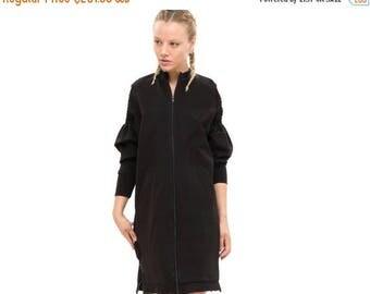 Zip Hoodie, Zip up Sweatshirt, oversized sweatshirt - everyday dress- Hoodie Dress - cool dress, timeless dress