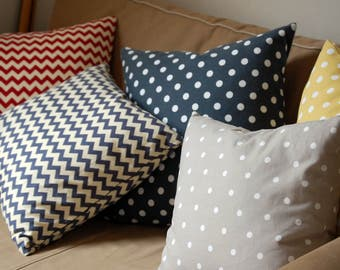 Decorative pillow / cushion cover, throw pillow, home accessories, home decoration Polka DOT
