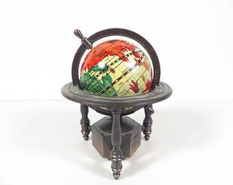 Vintage Globe Pencil Sharpener - Metal Globe Pencil Sharpener