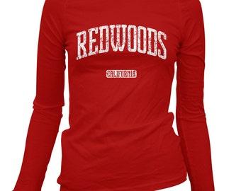 Women's Redwoods California Long Sleeve Tee - S M L XL 2x - Ladies' T-shirt, Gift For Her Redwoods Shirt, National Park, Pacific Coast Shirt