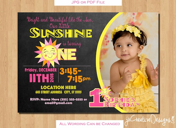 You are my sunshine invitation sunshine invite sunshine birthday il570xn stopboris Image collections
