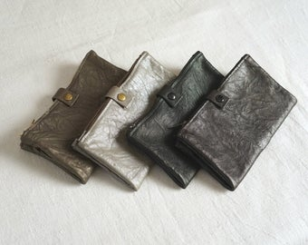 Large Double-Zipped Wallet - Soft Washed Lamb Leather - SOLD OUTa