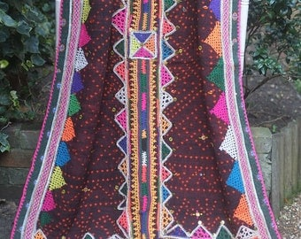Rabari wedding shawl, Banjara shawl, Dhabli shawl, Rabari wool throw, Rabari embroidered throw, Indian Tribal shawl, Boho tribal textile,
