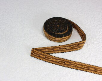 Woven Trim (6 yards), Woven Border, Cotton Ribbon, Grosgrain Ribbon, Dress Border, Border Trim, R183
