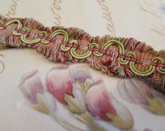 Vintage French trim.   Gorgeous pink and green. Supply, project...