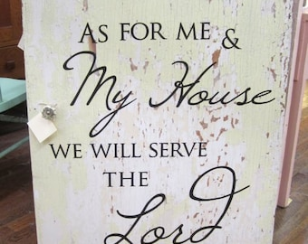 Shabby Cabinet Door Wall Art Scripture Verse Farmhouse Chic Prairie Primitive