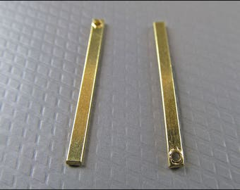 20 x Pendants Sticks square, brass, A23