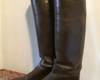 Vintage 1930's Custom Vogel Riding Boots Equestrian