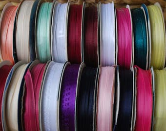 20 Spools Colorful SPOOLS Of Ribbons  Polyester Ribbon