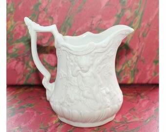 Portmeirion British Heritage Parian ware jug/pitcher Cherub design