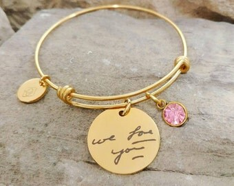 Handwriting Bracelet - Memorial Bracelet - Hand Writing Jewelry - Memorial Jewelry - Actual Handwriting - Keepsake Bracelet - Signature Gift