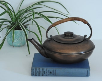 Rare 1920's Copper Craftsman Co Tea Pot- Arts and Crafts Movement