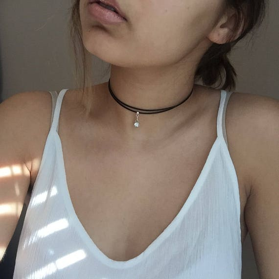 Vegan Choker ,women Choker,everyday choker, double choker,Choker for Women,simple leather Choker,leather choker, black leather choker