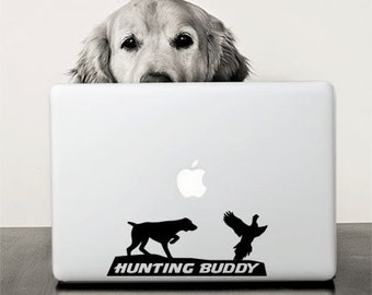Hunting Buddy / Auto Decal / Dog and Pheasant / Hunting Dog Decal
