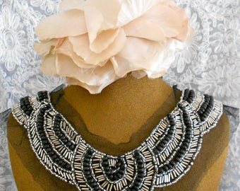 Black and Silver Beaded Appliques