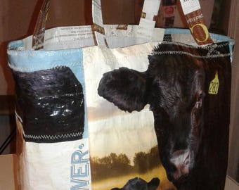 Tote made from Feed Bag