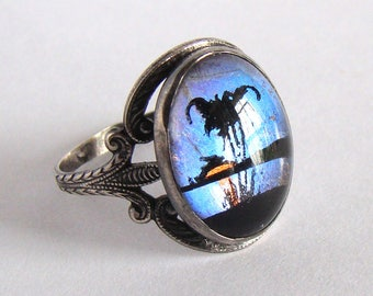 Vintage Hoffman Sterling Butterfly Wing Ring