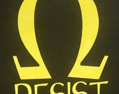 Ohm RESIST Decal - Awareness - Resist - March for Science  - Science Decal - Protest Decal- Science March - Science Gift