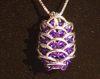 Dragon Egg Chainmaille Pendant Necklace