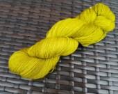 Sqeeky Green: 100g hand painted merino/nylon sock yarn