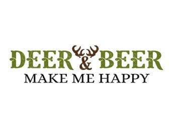 SVG - Deer and Beer Make Me Happy - DXF - Mens Tshirt SVG - Deer - Hunting - Beer - Tshirt Design - Sign Design - Mug Svg - Man Cave Decal