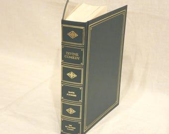 Dante Alighieri The Divine Comedy 1960s Programmed Classics Book Green w/ Gilt Trim