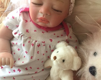 From The Preemie Anna Kit Reborn Baby Girl Isla Completed Doll with Magnetic Pacifier