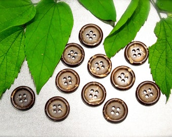 VINTAGE: 40 Coconut Buttons - Natural Buttons - Sewing, Crafts, Jewelry - SKU 17-E1-00008153
