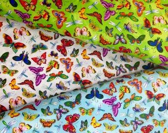 Northcott Butterfly Fabric  By The Yard  3 Color Coordinates
