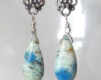 K2 Jasper Sterling Silver Earrings