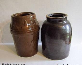 Antique Stoneware Wax Sealer Canning  Fruit Jar Choose