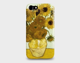 "iPhone 7 & 7PLUS Phone Case, Van Gogh ""Sunflowers"" Yellow and Orange. Flower painting"