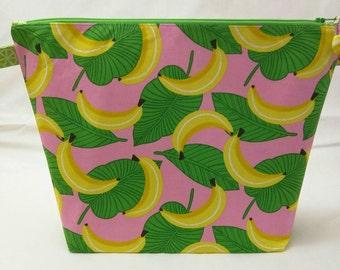 Medium Wide-Mouth Wedge Bag - Bananas